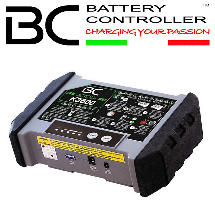 Booster BC K3600 LiFePO4-Technologie 100% sicher, 1200A,Maße: L 215 x B 138 x H 62 mm, 1200 Gr.