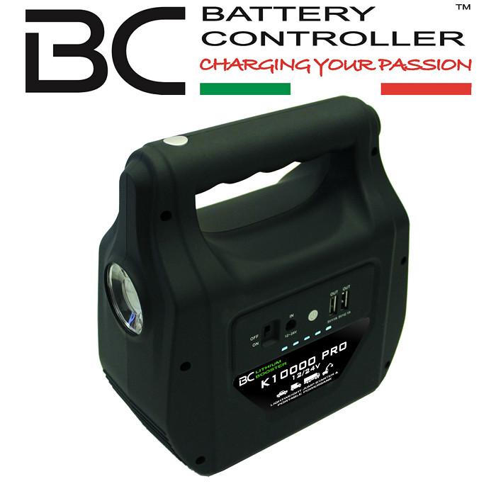 Booster BC K10000 Pro LiFePO4 100% sicher, 12/24V 1000A, Maße: L 181 x B 184 x H 89mm, 1,2Kg