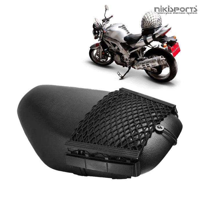 Multifunktions-Gepäcknetz mit Gurtbefestigungset, schwarz, 210 mm x 310 mm, für Roller/Motorrad/PKW