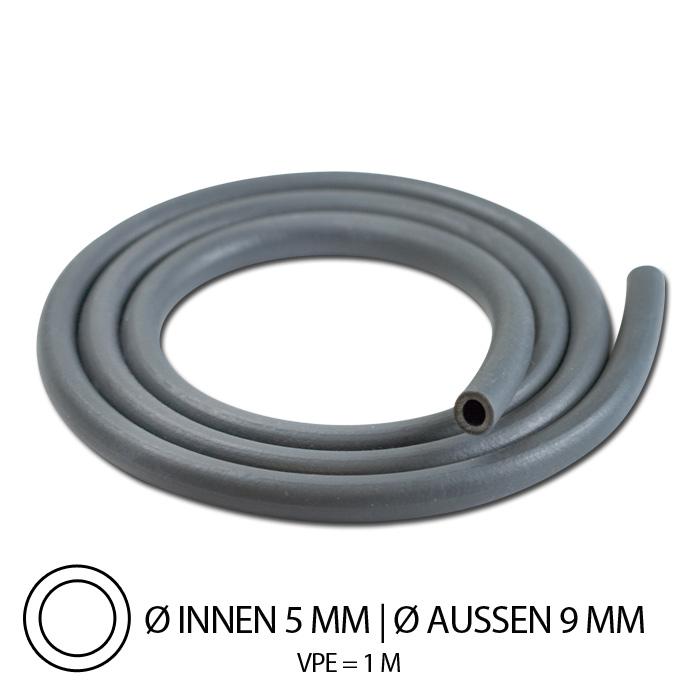 """Benzinschlauch """"Neopren"""", IØ= 5mm x AØ=10mm, Gesamtlänge: 1m, ( hitzebeständig bis 100°C )"""