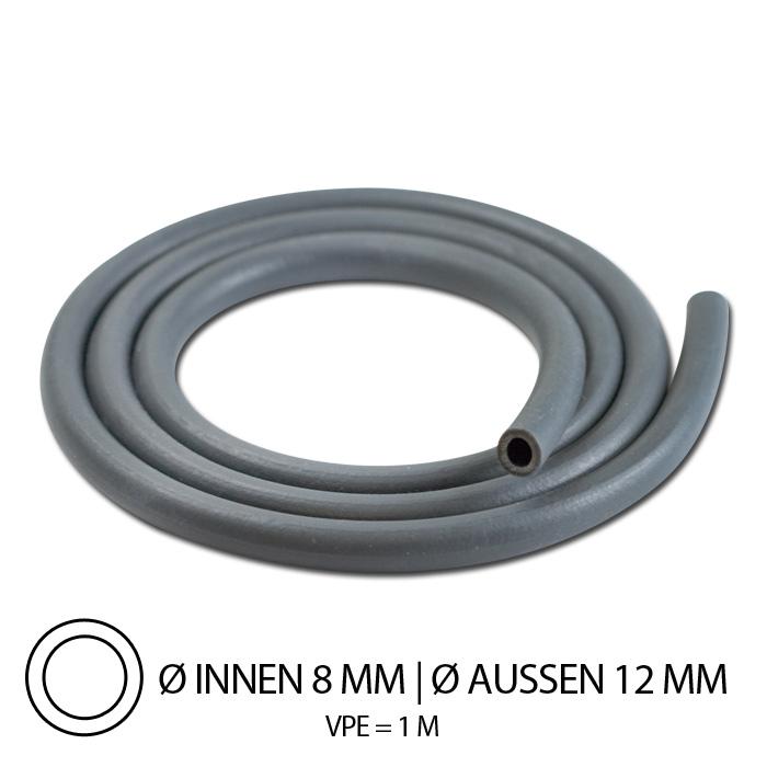 """Benzinschlauch """"Neopren"""", IØ= 8mm x AØ=12mm, Gesamtlänge: 1m, ( hitzebeständig bis 100°C )"""