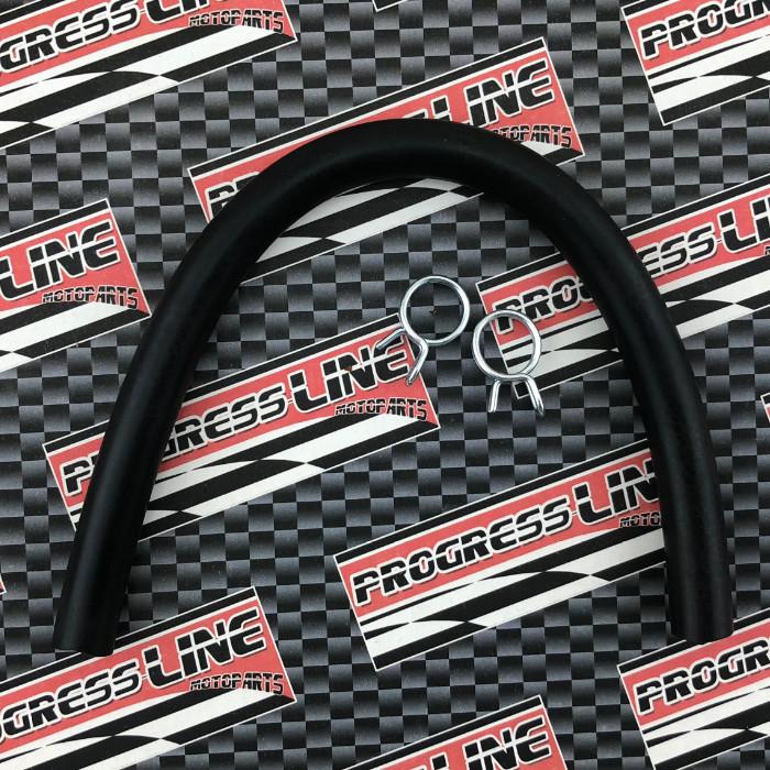 Bremsflüssigkeitsschlauch | IØ= 7mm x AØ=12mm | Gesamtlänge: 25cm | inkl. 2 x Klemmen 12mm