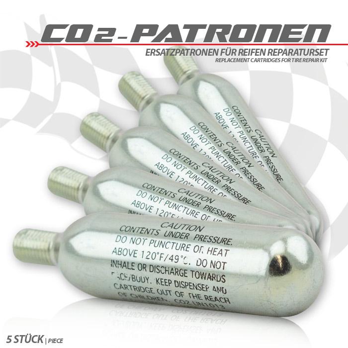 Ersatzpatronen | 5 Stck | CO2 | 16 Gramm |