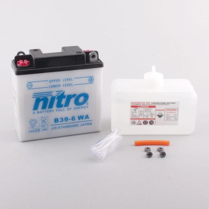 Batterie Nitro B39-6, inkl. Säurepaket, DIN 00714