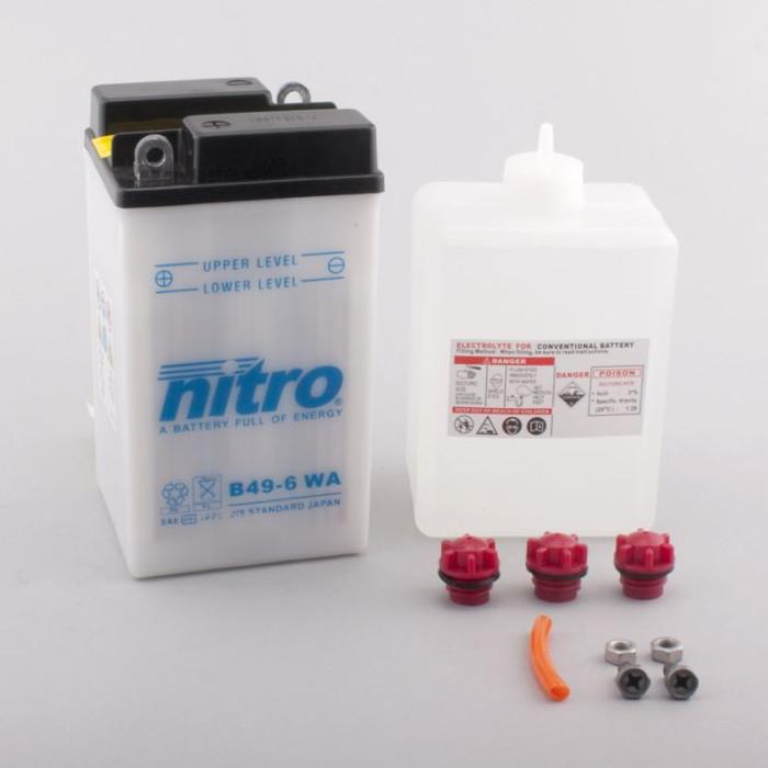 Batterie Nitro B49-6, inkl. Säurepaket, DIN 00811