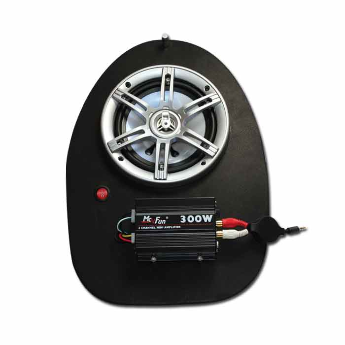 Helmfachanlage Gilera Runner bis Bj. 05 LED Bel.,* 300 Watt Verstärker