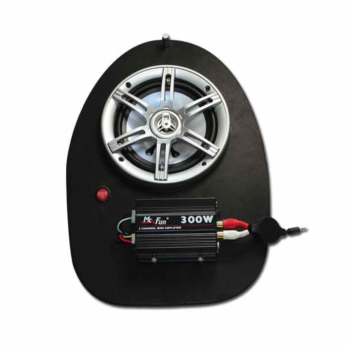 Helmfachanlage Piaggio NRG NTT mc2 mc3, LED Bel.,* 300 Watt Verstärker