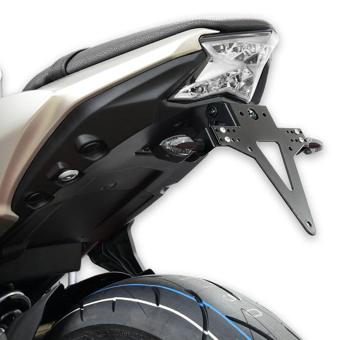 Kennzeichenhalter KAWASAKI Z650/Ninja 650, Bj.17-, verstellbar, schwarz, inkl. Reflektorhalter