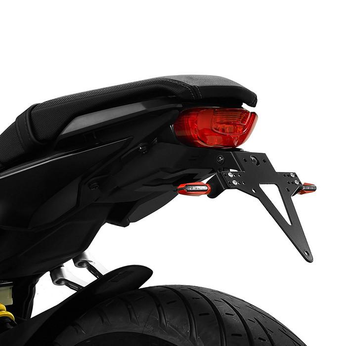 Kennzeichenhalter HONDA CB650R/ CBR650R, 19-, verstellbar, schwarz, inkl. Reflektorhalter