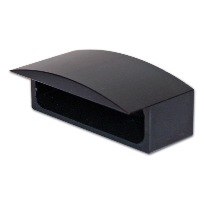 """Gehäuse für LED-Kennzeichenbeleu. 284343 """"Ice"""", schwarz, Alu"""
