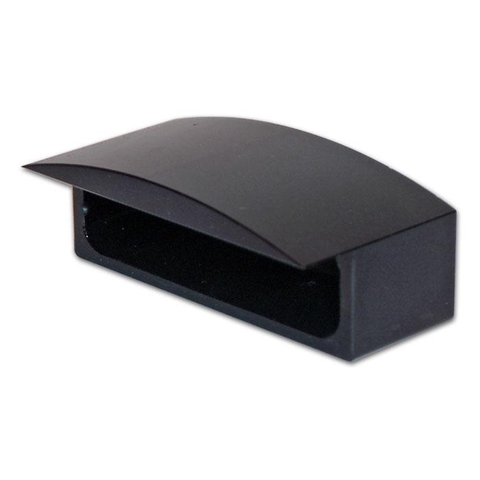 Gehäuse für LED-KZB 284344 Trio | Alu | Schwarz | B 48,5 x H 13 x T 22 mm | Lochabstand: 32 mm