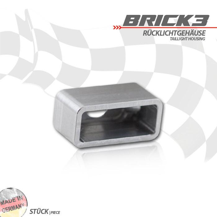 """Einschweissgehäuse für LED-Einbaurücklicht, 284298 / 284299 """"Brick3"""", Maße B 31,5 x H 14,5 x T 16,2mm"""
