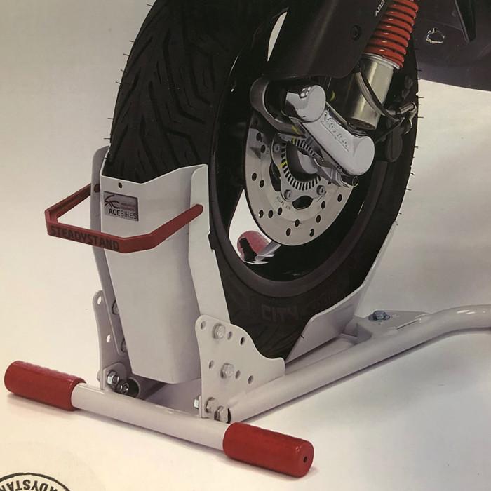 Montageständer Steadystand Mobil Scooter, Hellgrau Reifenbreite 80-120 mm, Reifen Ø 10-13 Zoll