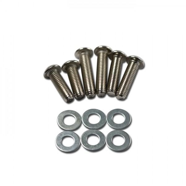 Scheinwerfer-Schrauben-Set, vernickelt, 12-teilig, je 2 x M8 x 25/30/35 mm + U-Scheibe