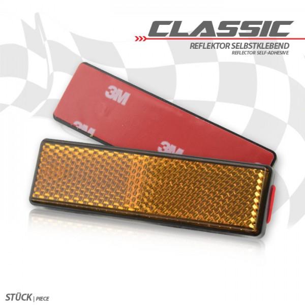 "Reflektor ""Classic"", rechteckig, gelb, mit Rand Maße: 90 x 25 mm, selbstklebend, E-geprüft"