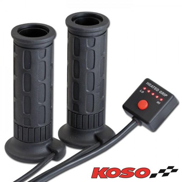 """Heizgriffe """"KOSO"""", offen, 7/8""""-22 mm, Länge: 120 mm, 5 fach verstellbar"""