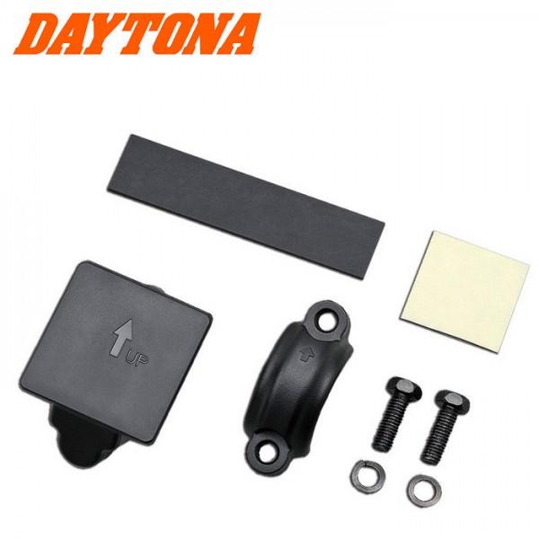 Halteschelle Universal, schwarz ABS, Ø 22-25mm, Gummistreifen+ 3M Klebepad