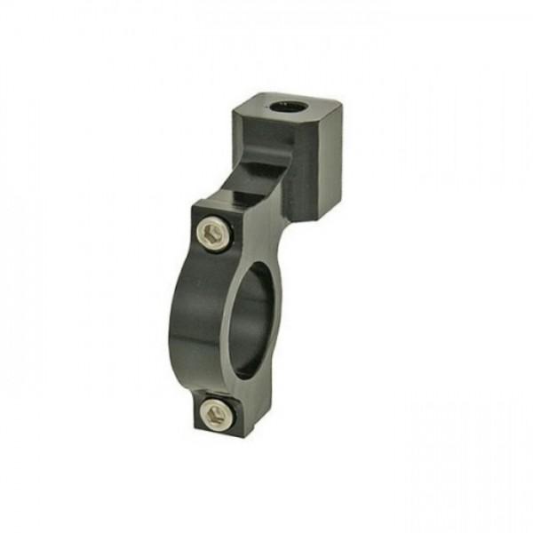 """CNC-Spiegelschelle   Schwarz   M8-R   7/8""""-22mm   Stck   Aluminium   2-teilig"""