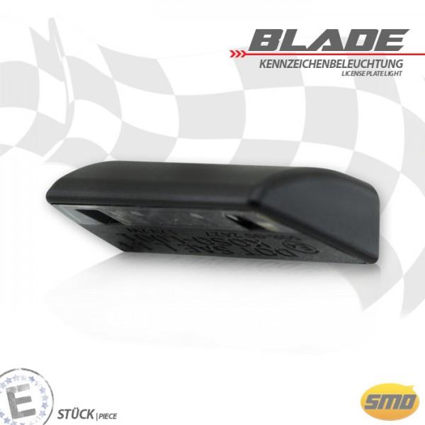 """LED-Kennzeichenbeleuchtung """"Blade"""", schwarz, Maße: B 44 x H 11 x T 16,5 mm, E-geprüft"""