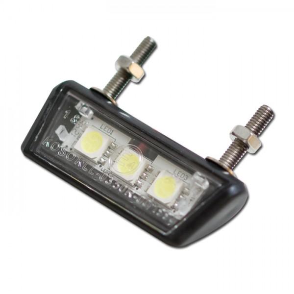 """SMD-Kennzeichenbeleuchtung """"Forty"""", schwarz, ABS, E-geprüft, 3 SMD s, B: 42mm H: 10mm T: 17mm"""