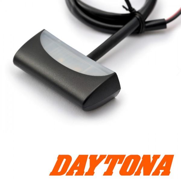 LED-Kennzeichenbeleuchtung Daytona | ABS | schwarz Maße: B 49 x H 14 x T 20 mm | E-geprüft
