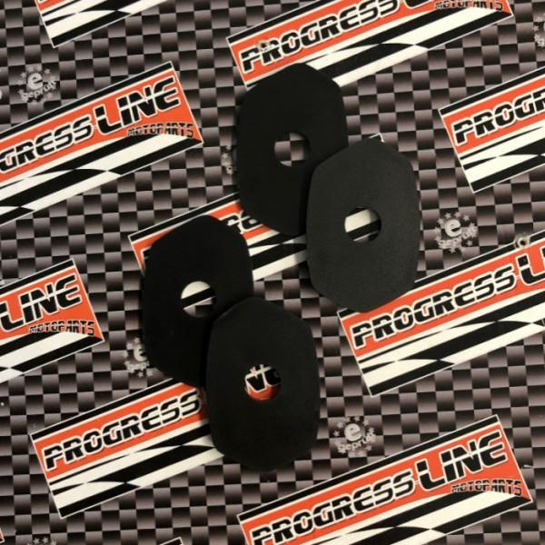 Indy Spacer | schwarz | ABS | 4 St. | Kawasaki | Z650/Z800/Z900/Z1000/ ER6-N/F | L 48 x  B 30mm