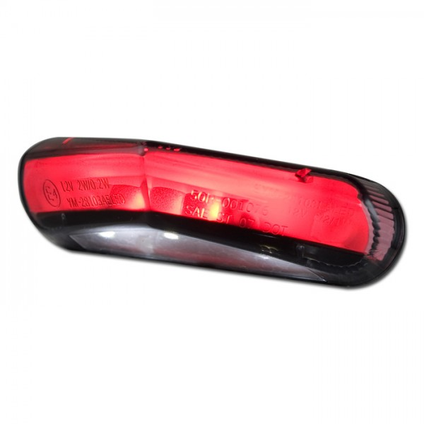 LED-Rücklicht Brisk3 | + KZB | getönt | Lightguide | Maße: B 84 mm H 22 mm T 39 mm | E-geprüft