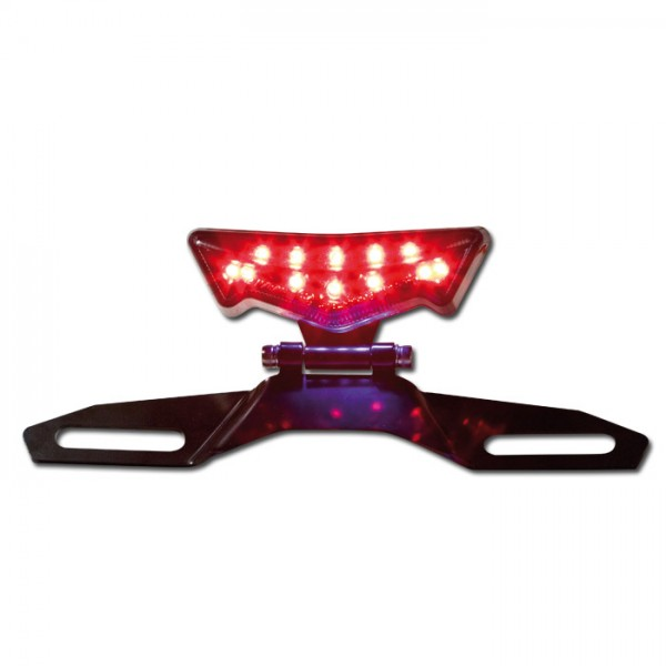 """LED-Rücklicht """"Joker""""mit KZB, getönt, verstellbar mit Halteplatte, Kabellänge ca. 19 mm, E-geprüft*"""