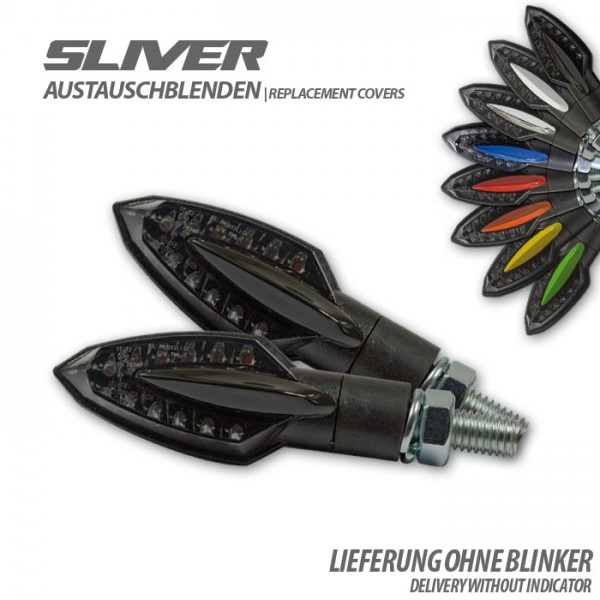 """Blende für SMD-Blinker """"Sliver"""", glanzschw., Paar Material: ABS"""