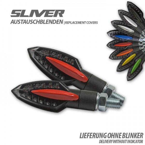 """Blende für SMD-Blinker """"Sliver"""", rot, Paar Material: ABS"""