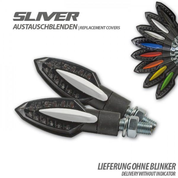 "Blende für SMD-Blinker ""Sliver"", weiß, Paar Material: ABS"