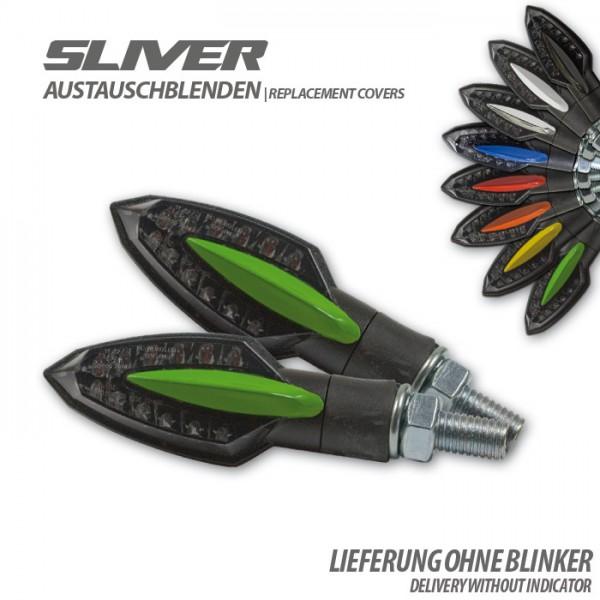 """Blende für SMD-Blinker """"Sliver"""", grün, Paar Material: ABS"""