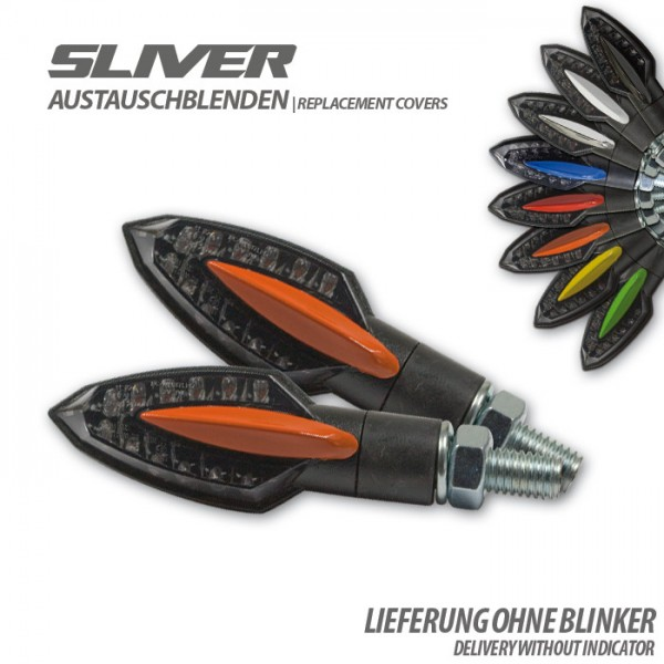 "Blende für LED-Blinker ""Sliver"", orange, Paar"