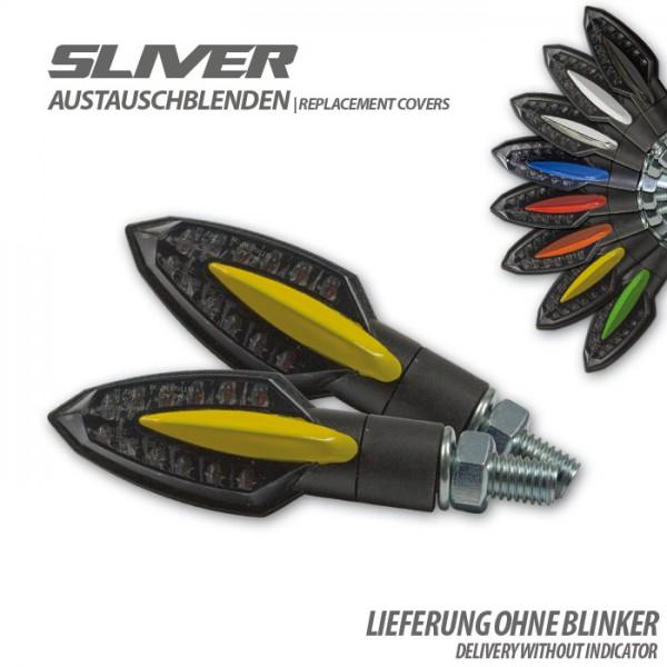 """Blende für SMD-Blinker """"Sliver"""", gelb, Paar Material: ABS"""