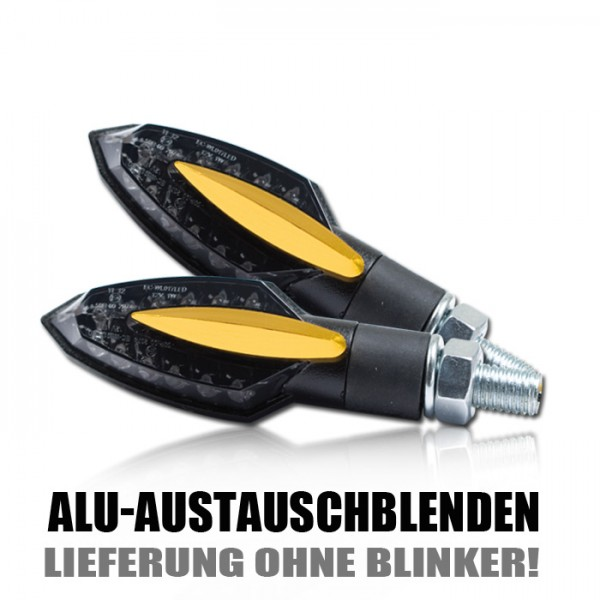 "Blende ALU für LED-Blinker ""Sliver"", gold, Paar"