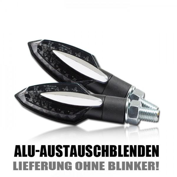 """Blende für SMD-Blinker """"Sliver"""", silber elox, Paar Material: ALU"""