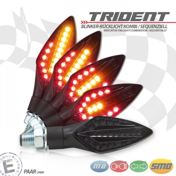 SMD-Blinker-RL | TRIDENT | SEQ | schwarz | M10 | Paar | L 75 x B 27,5 x H 21mm | E-geprüft