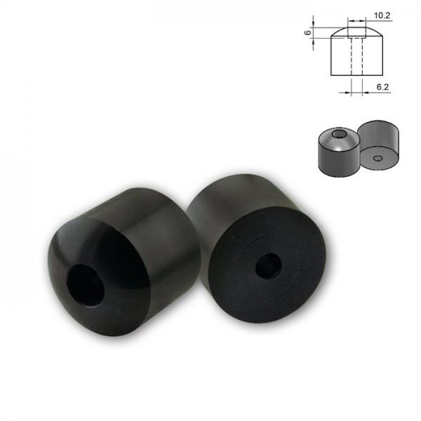 Lenkergewichte für Move+ Storm Lenkerendenspiegel, Uni 6mm, Paar, schwarz