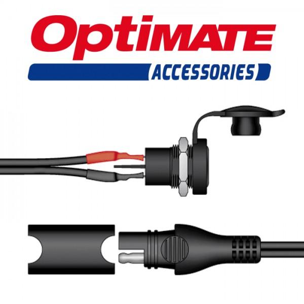 Bordsteckdose Ø=12mm für OptiMate (SAE-78), Länge=0,5 m, (10A max.)