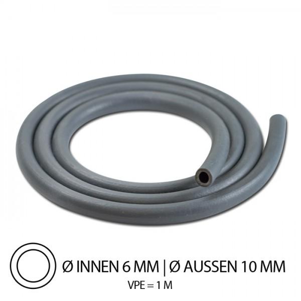 """Benzinschlauch """"Neopren"""", IØ= 6mm x AØ=10mm, Gesamtlänge: 1m, ( hitzebeständig bis 100°C )"""