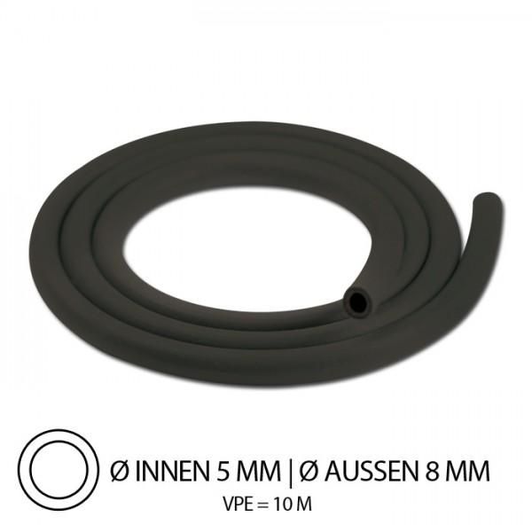 Benzinschlauch, Gummi, IØ=5mm x AØ=8mm, Mindestbestellmenge = 10 m/Preis je Meter