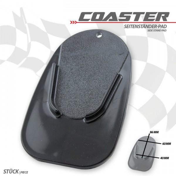"""Seitenständer-Pad """"Coaster"""", schwarz, ABS Maße: L 126 x B 85 x H 5 mm,"""