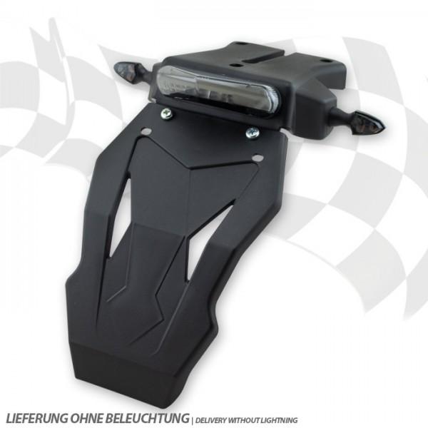 Kennzeichenhalter | Universal | ABS | Schwarz | mit Spritzschutz | *Rücklicht 284307/284310/284311